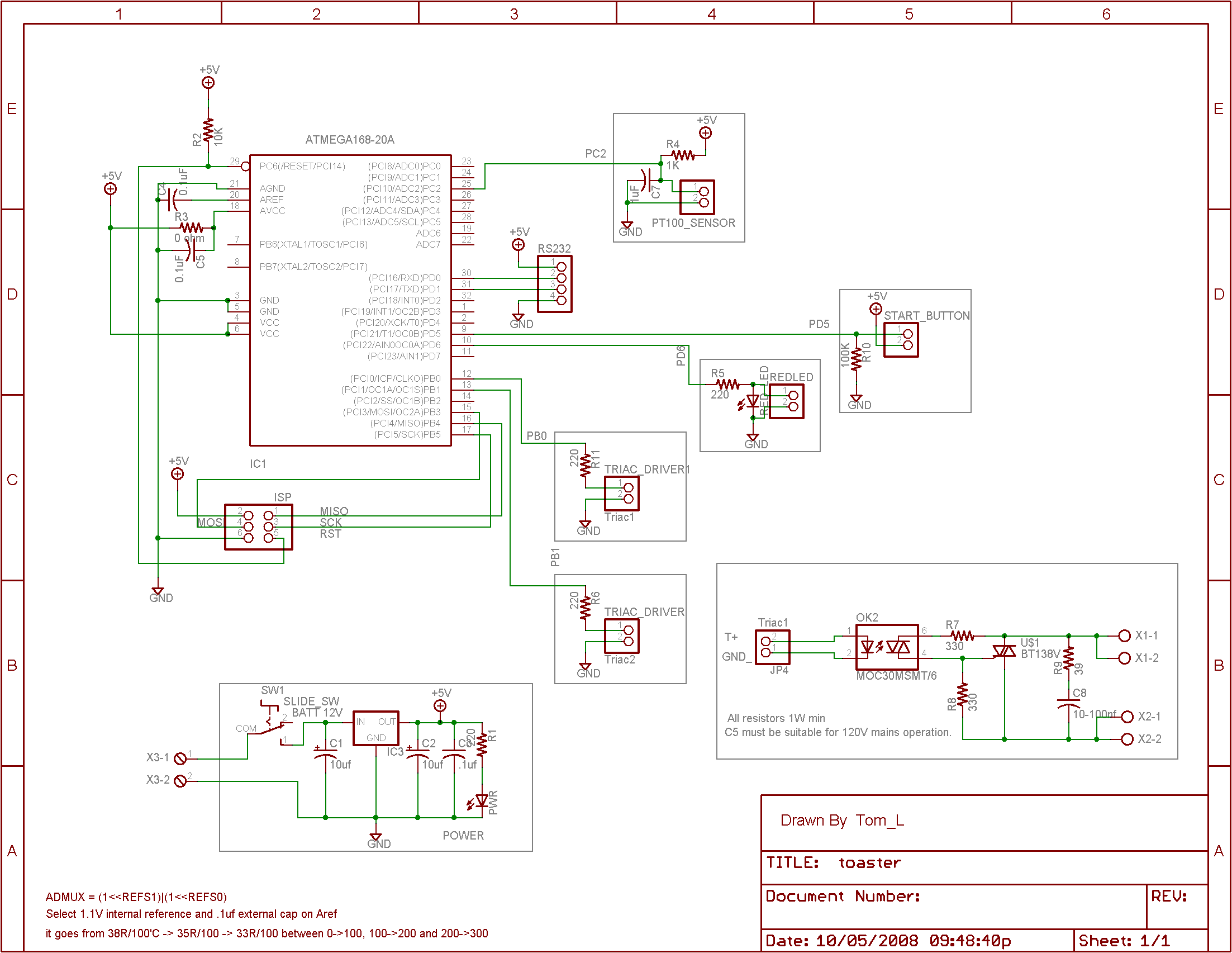Recent Projects Toaster Wiring Schematic Getting Started With Usbtiny For 10pin Isp